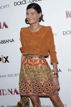 Giovanna Battaglia, in Dolce & Gabbana. Giovanna Battaglia, Milan Fashion Weeks, Paris Fashion, Style Fashion, Stockholm Street Style, Paris Street, Fashion Editor, Mode Inspiration, Style Icons