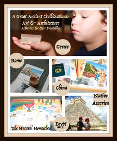 In this post, you will see what we did and check out thefree printable art activities for kidson 5 of the most amazing ancient civilizations.