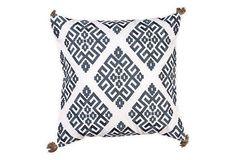 Greek Key 18x18 Pillow, Navy | One Kings Lane