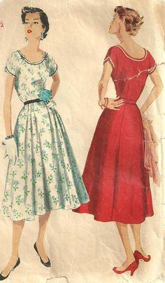 Hey, I found this really awesome Etsy listing at https://www.etsy.com/listing/175971376/simplicity-1096-vintage-50s-sewing