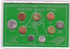 Coin collection from countries in Liberation of Kuwait Operation Desert Storm http://www.ebesucher.com/?ref=togetherwegain