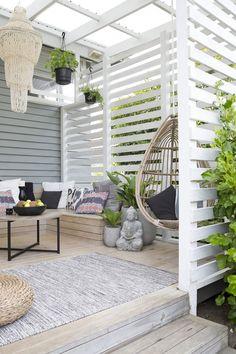 Diy Pergola, Deck With Pergola, Outdoor Pergola, Pergola Shade, Outdoor Spaces, Outdoor Living, Pergola Ideas, Patio Ideas, Modern Pergola
