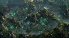 Forest  Aerial View, HeeWann Kim on ArtStation at http://www.artstation.com/artwork/forest-aerial-view
