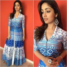 Yami Gautam Flawlessly Flaunts Anita Dongre At Junooniyat Promotions Indian Attire, Indian Wear, Pakistani Outfits, Indian Outfits, Salwar Designs, Dress Designs, Indian Look, Indian Style, Desi Wear