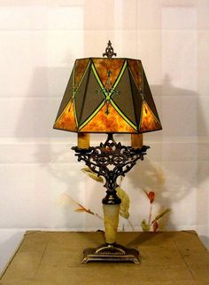 Magnificent huge bronze marble cherub table lamp w torch globes antique vintage art deco table lamp light w mica shade ready to plug in rewired keyboard keysfo Image collections
