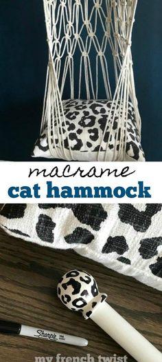 macrame plant hanger+macrame+macrame wall hanging+macrame patterns+macrame projects+macrame diy+macrame knots+macrame plant hanger diy+TWOME I Macrame & Natural Dyer Maker & Educator+MangoAndMore macrame studio Diy Cat Hammock, Diy Cat Bed, Lit Chat Diy, Design Patio, Chesire Cat, Micro Macramé, Macrame Plant Hangers, Macrame Design, Macrame Tutorial