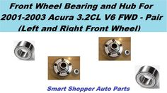 Front Wheel Hubs /& Bearings Left /& Right Pair Set for 03-05 Astro Safari AWD 4x4