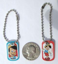 Disneys-Pinocchio-Red-Miniature-Dog-tag-Charm-Key-chain-Backpacks-Party-3