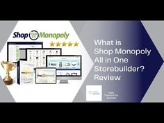 What is Shop Monopoly All in One storebuilder? Minireview Marketing Tools, Monopoly, Affiliate Marketing, Helpful Hints, All In One, Mini, Shopping, Useful Tips