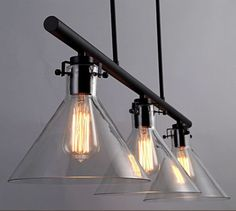 3-Lights-Iron-Glass-Shade-Retro-Island-Pendant-Light-Ceiling-Lamp-Fixture-New