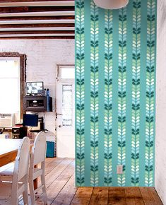 Removable self-adhesive colourful vinyl Wallpaper wall sticker - Tree Leave pattern C008