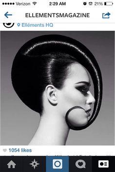 Futuristic hair