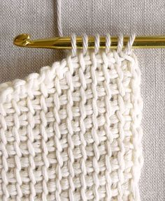 Learn how to tunisian crochet!