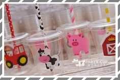 Complete your Barnyard/Farm themed Birthday Party with our custom designed Signature party cups! Our cups have dual uses, they make the perfect