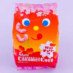 Tohato Caramel Corn - Sakura Cherry Japanese Sweet, Japanese Candy, Corn Puffs, Bubble Milk Tea, Sugar Bread, Chewy Candy, Japanese Snacks, Caramel Corn, Roasted Peanuts
