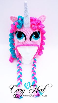 Cotton Candy Unicorn Hat by CozyHat on Etsy, $55.00