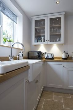 Beautiful Belfast sink set-up in this Chalkhouse Interiors kitchen
