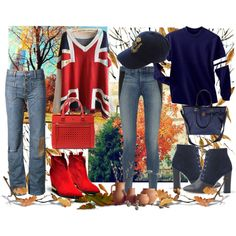 Ready for Fall with Sweaters and Boots by gabriele-bernhard on Polyvore featuring Yves Saint Laurent, rag & bone, J.Crew, Tory Burch, Kate Spade, Polo Ralph Lauren, Boots, Sweater and fall2015