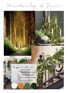 Rivendell Wedding Inspiration Mood Board by Wild Green Yonder Flowers