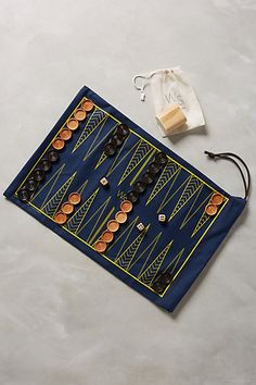 Roll-Up Backgammon & Checker Set