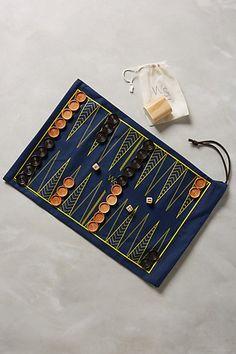 Roll-Up Backgammon & Checker Set