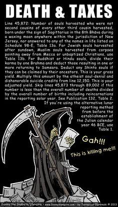 Death & Taxes #webcomic #taxes #death #grimreaper #religion Second Cousin, Grim Reaper, Religion, Life, Shinigami, Religious Education