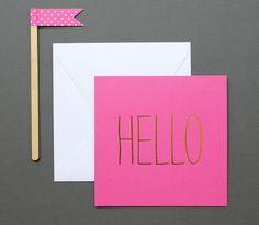 Gold Foil Hello Card