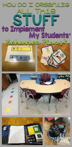 Ideas and tips to help organize all the stuff that goes along with implementing a student's behavior plan in and out of the classroom.