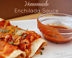 Homemade Enchilada Sauce from Table for 7 #enchiladasauce #homemade
