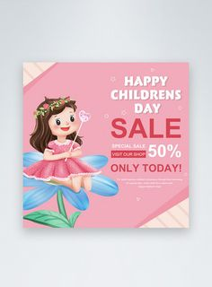 Cartoon children's day social media post happy childrens day,social media ,discount,children,celebration,colourful,promotion,girl,cartoon#Lovepik#template