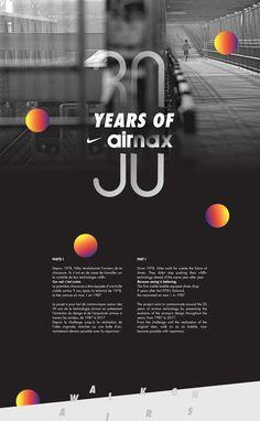 "|| Campagne de communication autour des 30 ans de la technologie visible ""AIR"" de Nike©. || A communication campaign around the 30 years of the ""AIR"" visible technology of Nike ©."