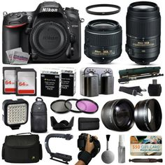 【FREE $50 Gift Card】【FREE Cleaning Kit】【FULL Warranty】 Nikon D7200 DSLR SLR Camera + 18-55mm VR II + 55-300mm VR + 128GB Premium Bundle   Nikon D7200 DSLR Digital Camera (Body Only) Description: Poised to deliver in the most challenging of situations, Nikon's D7200 is a versatile DX-format DSLR that caters to both still photography and […]
