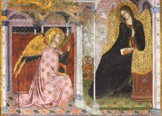 Angel Paintings Annunciation by Simone Martini and Lippo Memmi Around 1333 Below. Italian Renaissance Art, Renaissance Artists, Medieval Art, Religious Icons, Religious Art, Madonna, Fra Angelico, Archangel Gabriel, Biblical Art