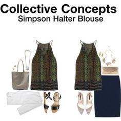 Collective Concepts Simpson Halter Blouse