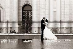 Salt Lake City Temple wedding <3