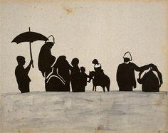Jules Richard mit au point en 1893 un appareil de prise de vue stéréoscopique d'une grande simplicité d'utilisation. Les négatifs sur verre du vérascope étaient agrandis sur papier et ensuite on réalisait les découpages de papiers noirs à partir de reports de papier calque. Cet album de silhouettes en papiers découpés et estampes est relatif à un voyage en mer, entre 1893 et 1900.