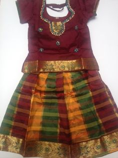 Classy girls indian traditional dress for any occasion / festival <br />Available for Age 2 to 3 yrs <br />Art Silk <br />Free shipping in USA <br />