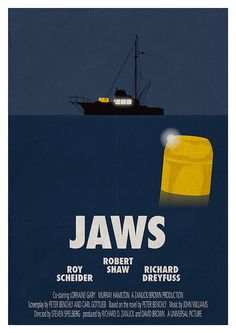 Movie poster 'Jaws' Limited edition of by Kinographics Jaws 4, Jaws Movie Poster, Minimal Movie Posters, Thing 1, Alternative Movie Posters, Steven Spielberg, Minimalist Poster, Great Movies, Printing Services