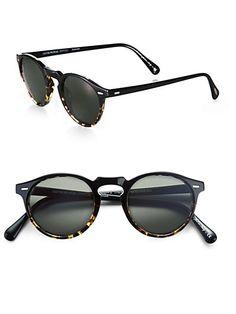 Oliver Peoples - Gregory Peck Round Polarized Sunglasses Lunettes, Lunettes  De Soleil Polarisées, Lunettes f6721ff58056