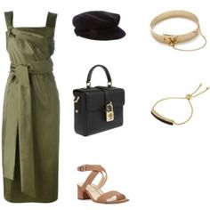 A fashion look from June 2017 featuring midi dress, nine west sandals and top handle handbags. Browse and shop related looks. Burberry Outfit, Burberry Clothing, Eddie Borgo, 3.1 Phillip Lim, Nine West, Polyvore Fashion, Fashion Looks, Shoe Bag, Stylish