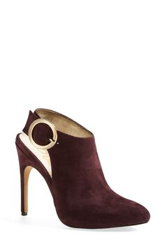 perfect bottle mix | gold buckle and burgundy suede |   Sponsored by Nordstrom Rack.