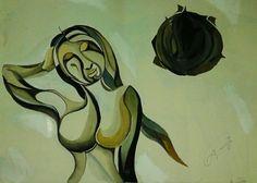 Modern indian painting by Anuraag Saikia