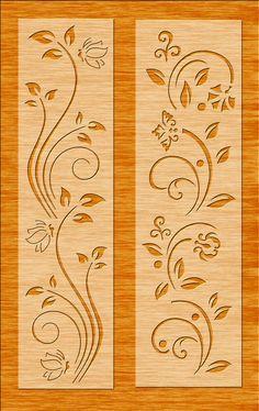 Découpe Laser en Bois formes//Pochoirs-fleurs-Qualité contreplaqué