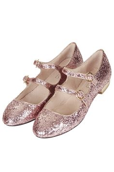 Topshop FIZZ Glitter Mary Jane Shoes