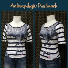 "Anthro ""Daydreamer Tee"" by Postmark Tts, very good preloved condition.  **  Prices are as listed- Nonnegotiable.  I'm happy to bundle to save shipping costs, but there are no additional discounts.  No trades, paypal or condescending terms of endearment  ** Anthropologie Tops Tees - Short Sleeve"