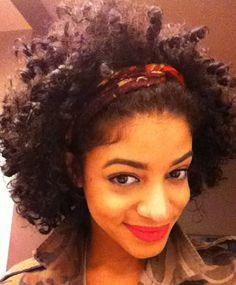 short curly kinky black hair