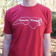 Tomato vs. Vinegar North Carolina Barbecue T-Shirt | North Carolina Apparel
