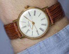 Slim men's watch Ray gold plated watch classic by SovietEra