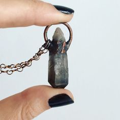 Smoky Quartz Necklace by MyHeartEchoesYours on Etsy
