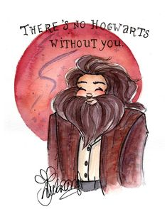 Greetings!! When I saw The Philosopher's Stone for the first time, Hagrid was one of the charatcers that truly matched the image I had in my mind when I read the books. He's such a great character and Harry's first friend I've been pondering which male characters I could draw from the Wizarding World, do you have a preference? I already painted, Fred & George, Dumbledore, Voldemort (will redo this one though), Neville, Ron, Sirius and obviously Hagrid I definitely should create Dr...